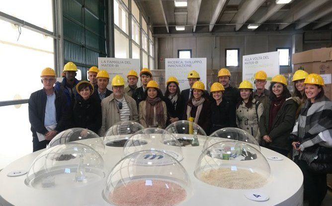 The FAO - Climate Change  delegation visited the Novamont's plant in Terni