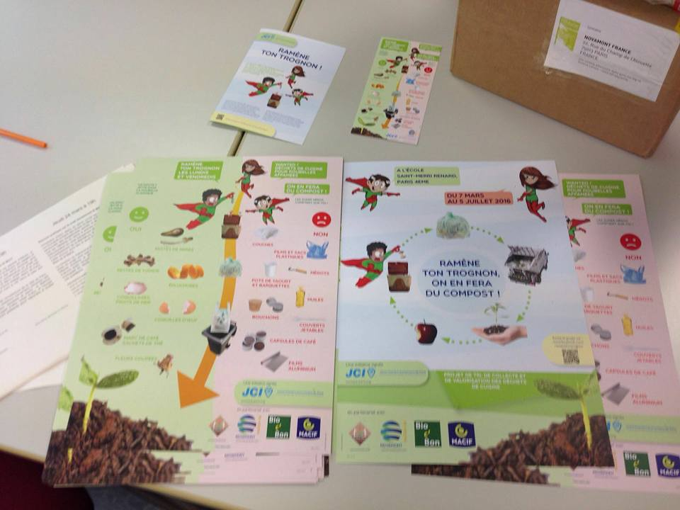 NOVAMONT FRANCE has supported the educational project «Ramène ton trognon» providing compostable bags made with MATER-BI.