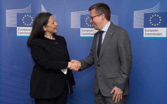 Carlos Moedas, European Commissioner for Research, Science and Innovation met Catia Bastioli to talk about bioeconomy and innovation in Europe